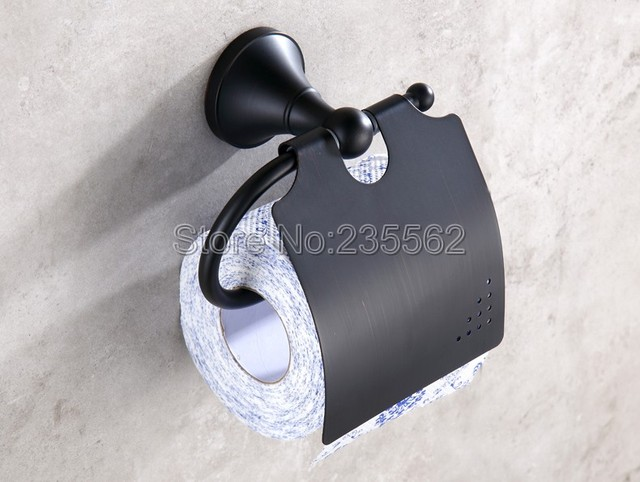 Toilet Accessoires Zwart : Nieuwe zwarte olie antieke messing badkamer accessoires toilet