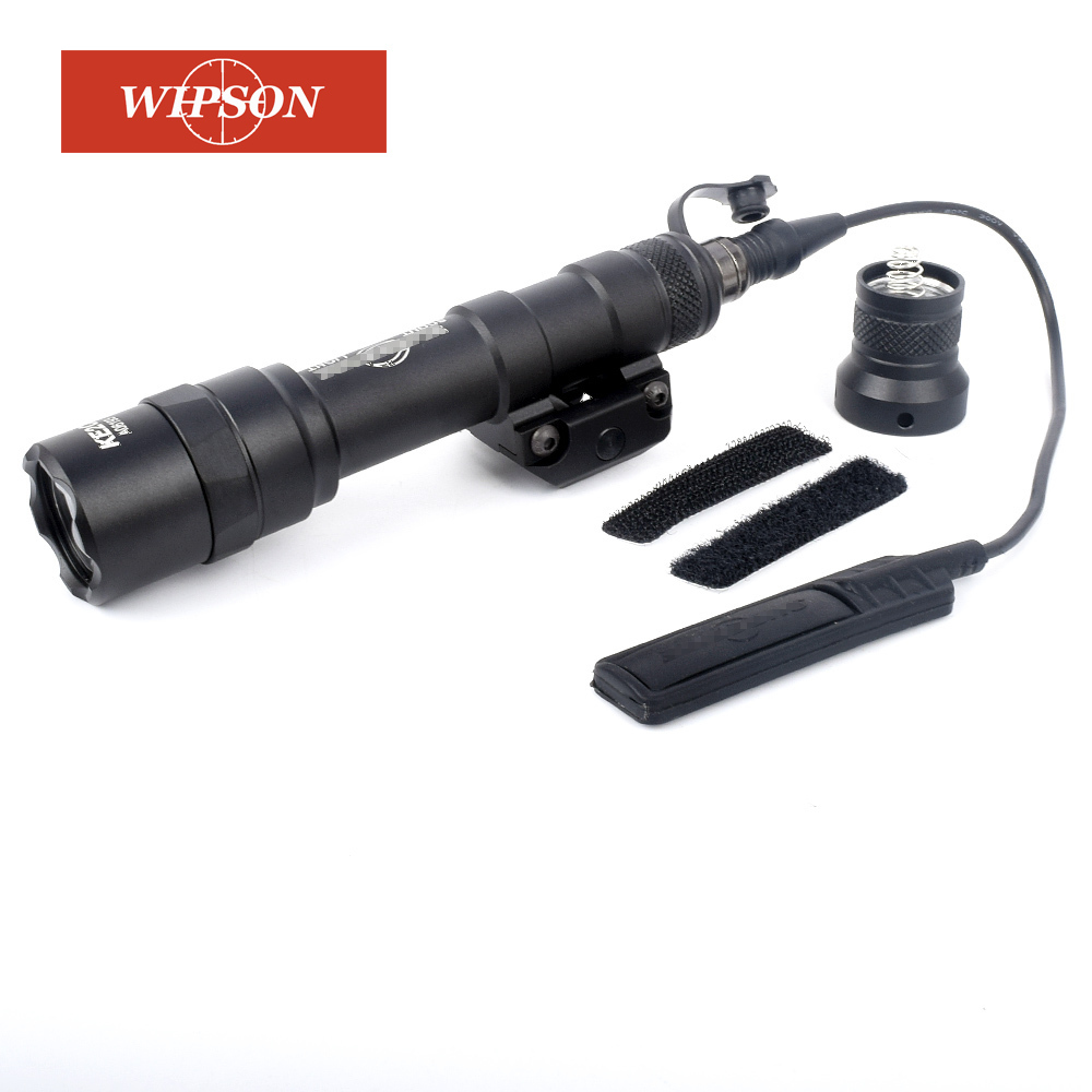 WIPSON SF M600B Mini Scout Light LED CREE Flashlight Weaponlight Tactical Gun Pistol Flashlight With Remote Tail Switch цена 2017