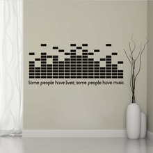 Black Murals Popular Art Some People Have Lives Some People Have Music Wall  Decals DJ Equalizer Part 95