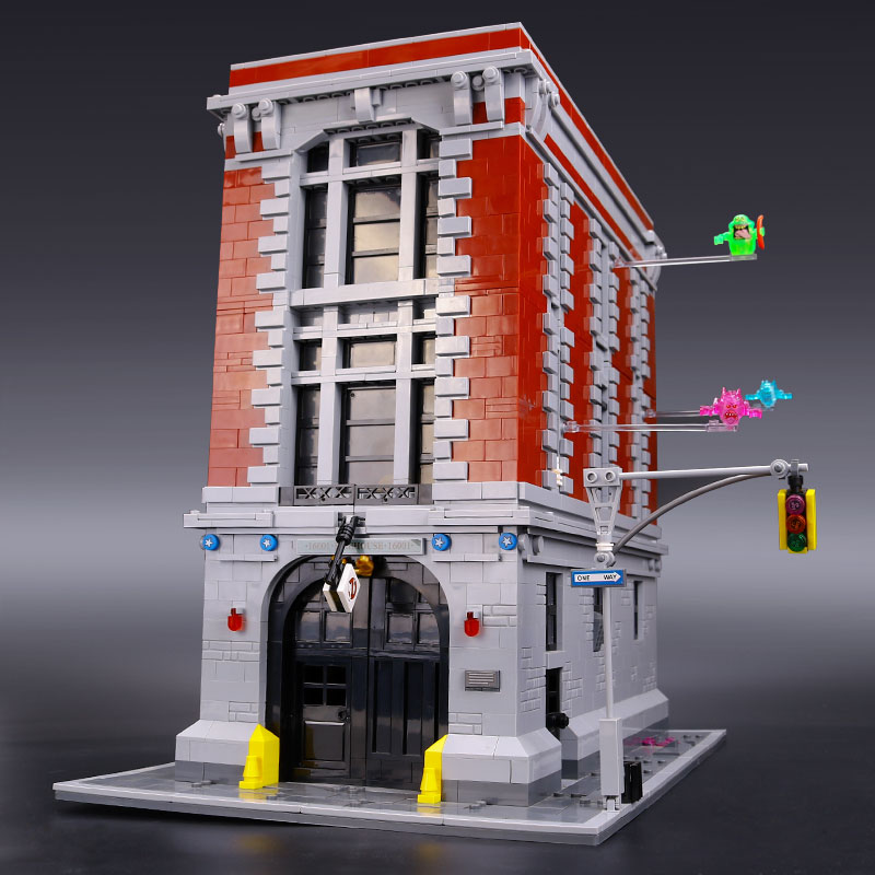DHL 16001 Ghostbusters Firehouse Headquarters Compatible With 75827 Set Educational Building Bricks Kits Set for Children