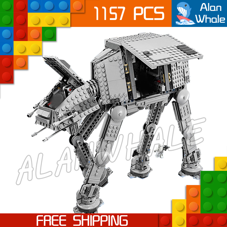 1157pcs Space Wars Universe New 05051 AT-AT DIY Model Building Blocks Tank Robots Toys Boys Gifts Bricks Compatible with Lego [bainily]511pcs superheroes space station iron man base attack on avengers tower model diy building blocks bricks toys