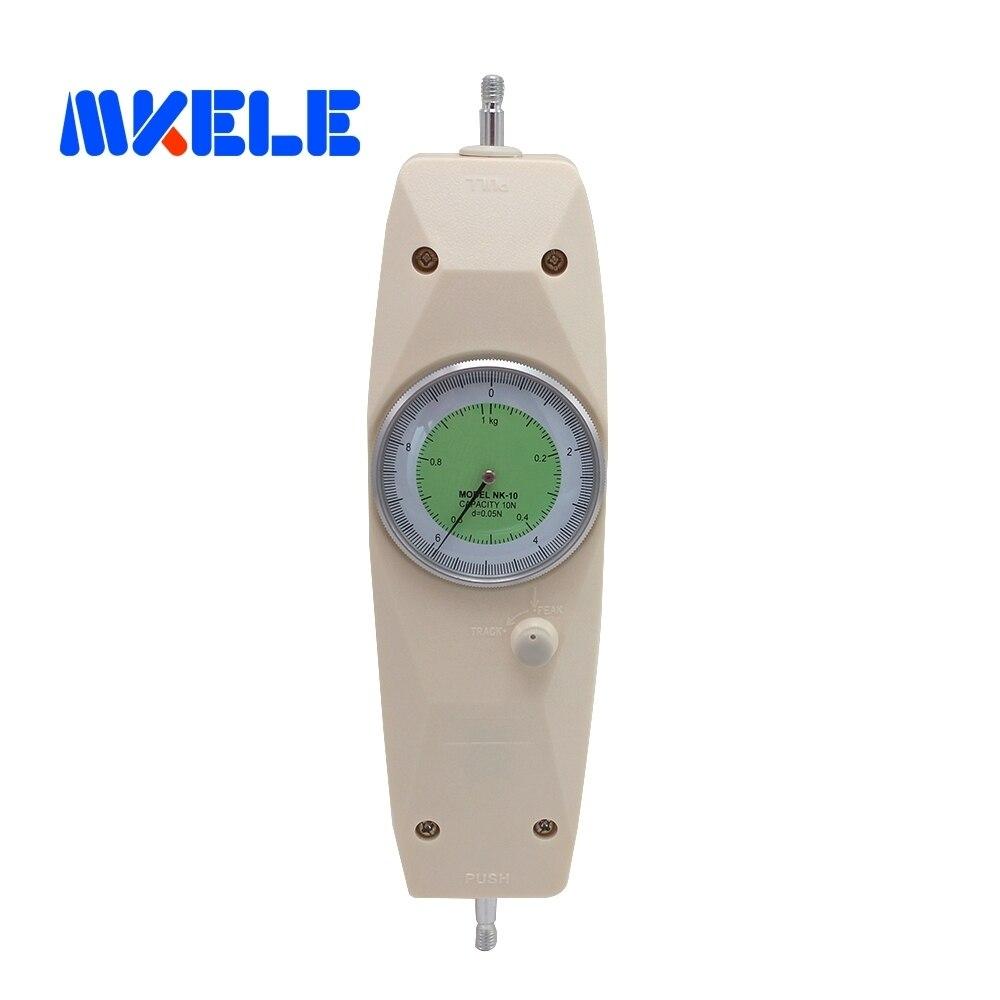 NK-10 10N Pointeur Dynamomètre Analogique Push Pull Force Gauge Testeur Compteur