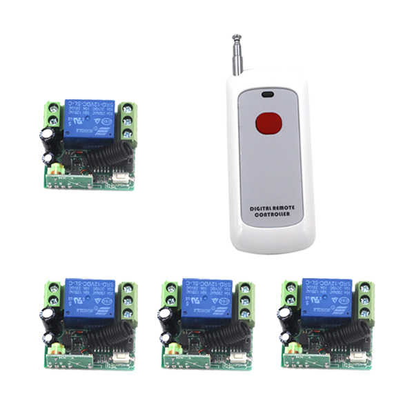 Free shipping 12V 1CH Learning Code Wireless Remote Control Switch System Remote Control Applicance Garage Door SKU: 5219