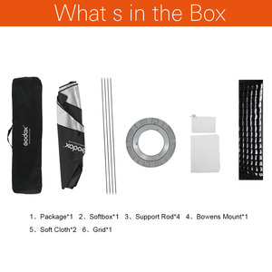 "Image 2 - Godox 32 ""X 47"" 80X120Cm Honingraat Softbox Softbox Met Bowens Mount Voor Studio strobe Flash Light"