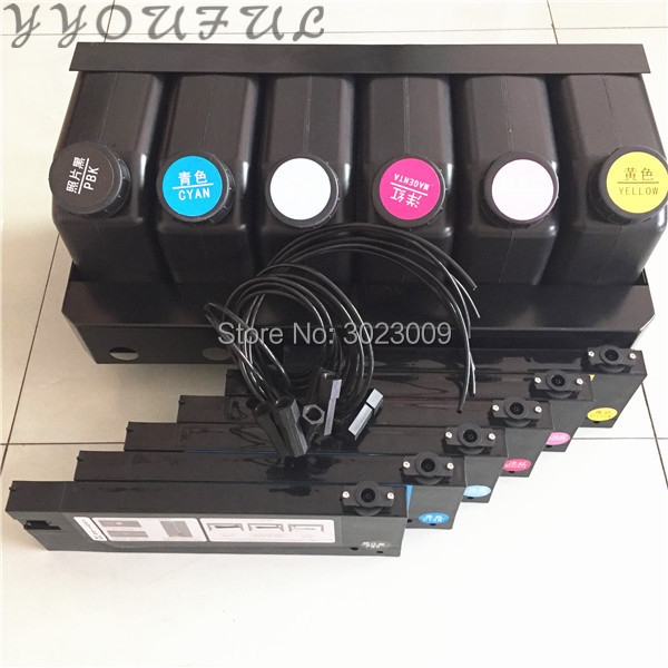 US $114 0 5% OFF|UV Bulk Continuous Ink Supply System CISS Assembly 6+6 for  Epson Roland Mimaki Mutoh Lecai Sky jet Taimes Titanjet UV Inkjet-in