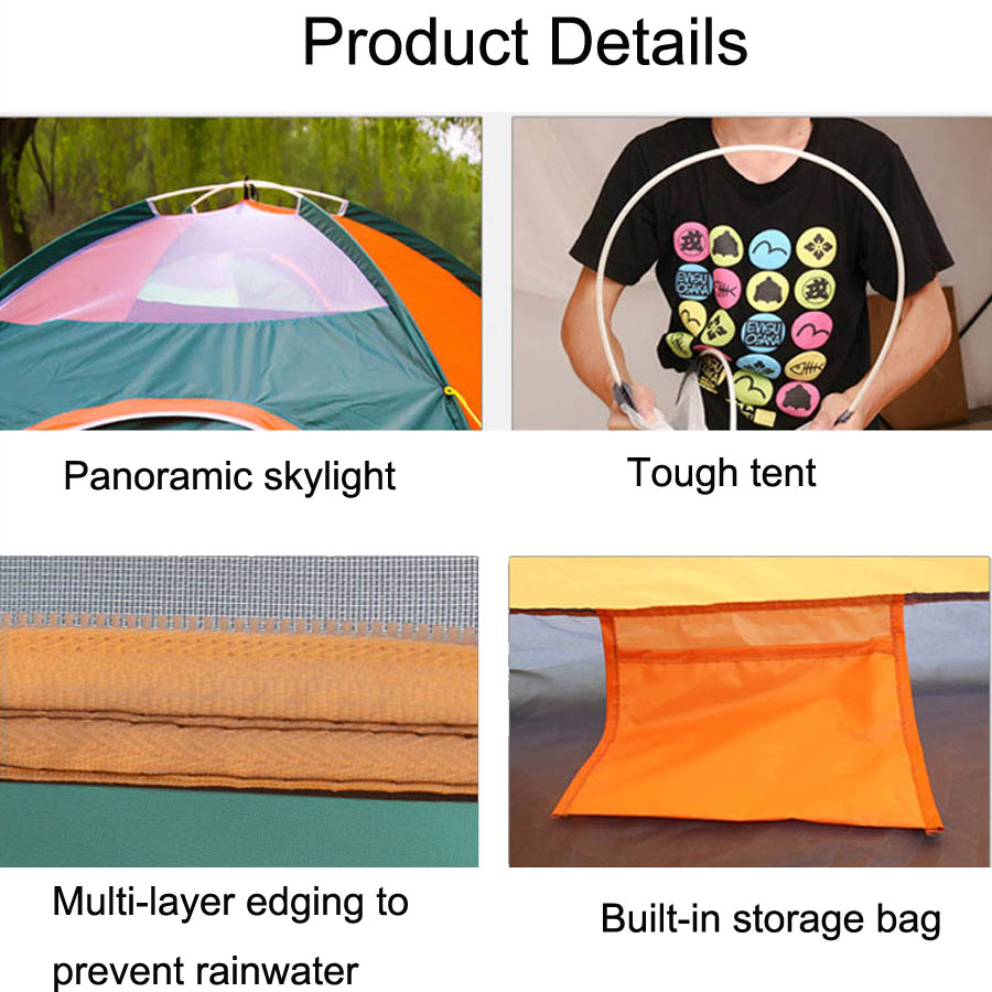 Ultralight Nylon 234 Persons Portable Pop Up Outdoor Camping Beach Tents (4)