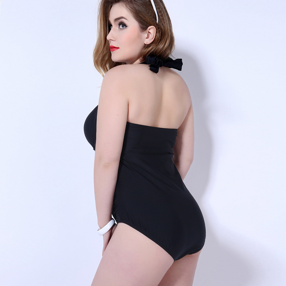 7f719be6027e2 Ms.Shang Solid Swimwear Women Push Up One Piece Swimsuit 2019 Plus Size  Swimwear Halter Top Bathing Suits Female Sexy Monokini-in Body Suits from  Sports ...