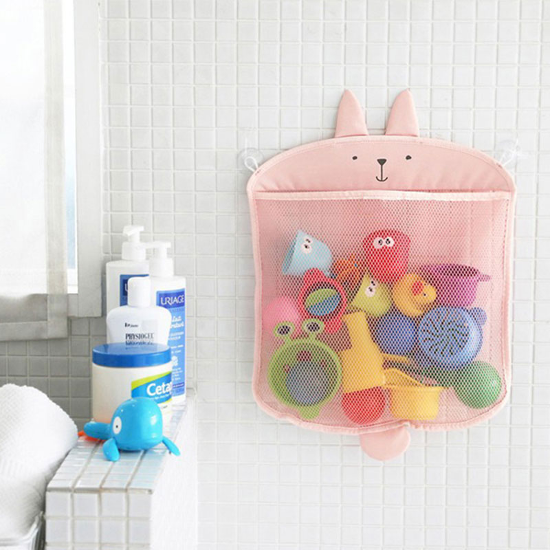 Toy Storage Net Bag For Bath Shower Toys Hanging Wall Mesh Bag Collection Organizer Easy To Clean Waterproof Bag Bathroom
