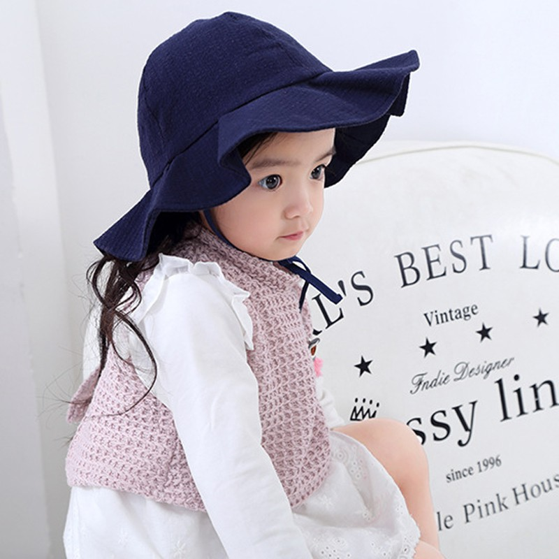 Toddler Infant Kids Sun Cap Summer Outdoor Baby Girls Boys Sun Beach Cotton