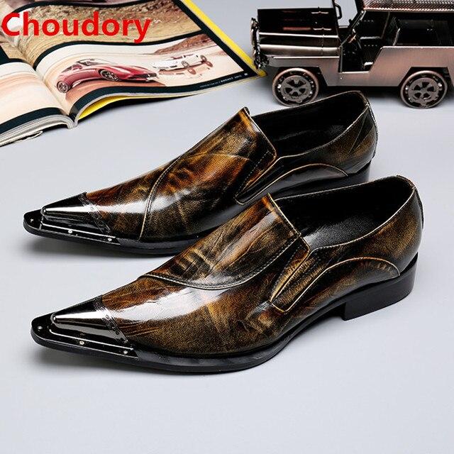 0c3883cc399cb Patente sapato masculino biqueira de aço de couro genuíno sapatos oxford  para homens sapatos elevador sapatos