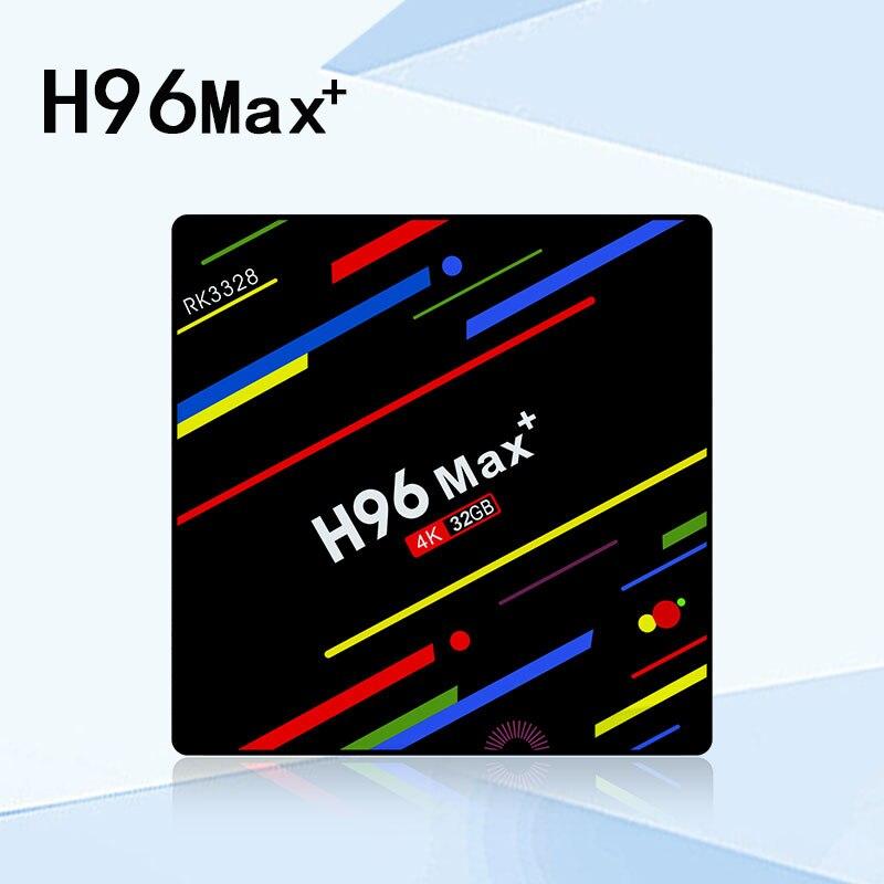NEW H96 MAX+ Smart TV Box Android 8.1 Rockchip RK3328 4GB 32GB 64GB USB3.0 H.265 4K Google Player Store set top box PK MI box mi max 32gb silver