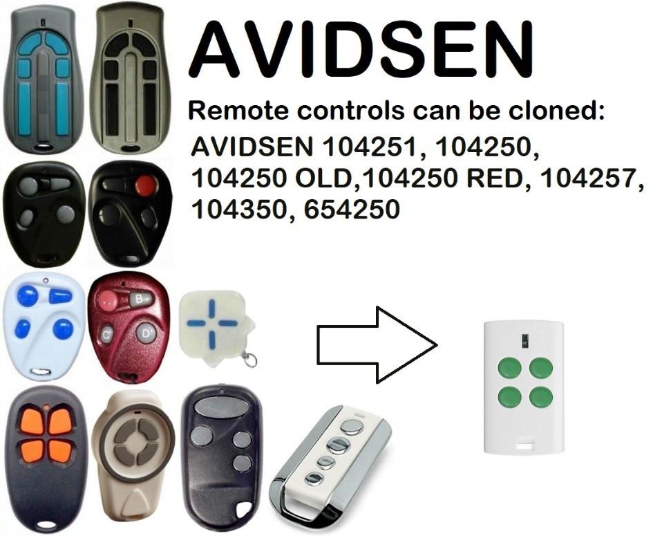 AVIDSEN 104251, 104250, 104257, 104350, 654250 Remote Control DuplicatorAVIDSEN 104251, 104250, 104257, 104350, 654250 Remote Control Duplicator