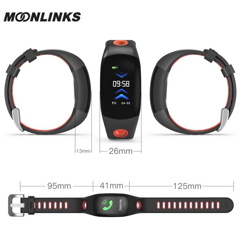 Купить с кэшбэком Kuddly DM11 ip68 Hands raise light up smart wacht smart bracelet fitness Heart Rate Monitor smart watch band smartwatch women