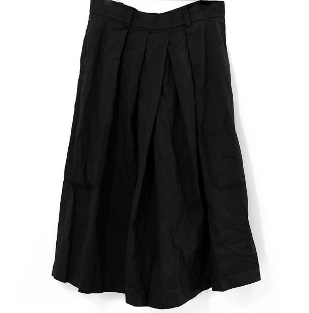 27-44! High quality plus-size pants  2018 Homemade summer new man yamamoto pleated cotton dress with dark black pleated skirt 4