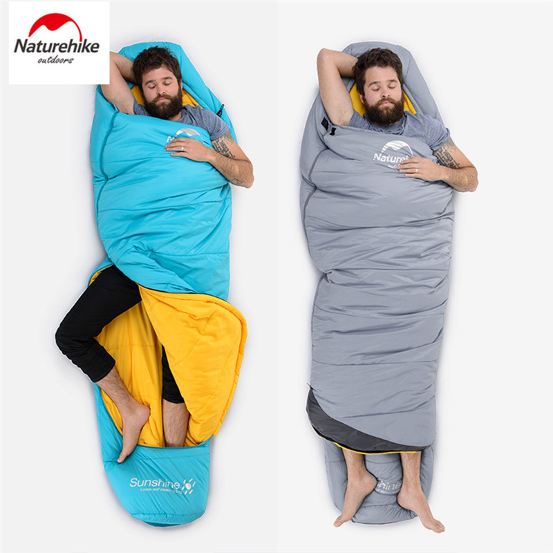 NatureHike Outdoor Sleeping Compression Bag Mummy Thermal Warm Adult Single Winter Camping Waterproof Solid Carry Bag Warm Bed nh sleeping bag adult outdoor winter thermal winter thickening thermal autumn and winter cotton sleeping bags single double