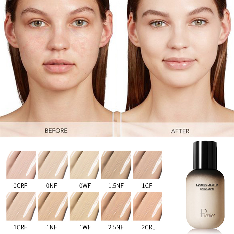 pudaier 40ml professional concealing foundation makeup matte tonal base Liquid cosmetics foundation cream for face full coverage 2