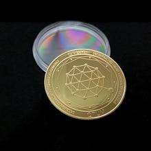 QTUM Квантовая Монета Золото Биткоин памятный круглый коллекционеры монета бит монеты цифровая валюта