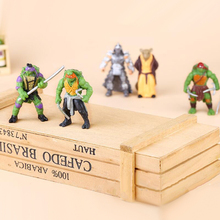 6pc/set Teenage Mutant Ninja Turtles Theme Cake Topper Dacoration Doll Boys Kids Happy Birthday Event Party Supplies Baby Shower цена