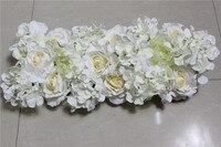 Alta calidad 10 unids/lote etapa boda arco de flores de la pared o telón de fondo decorativo al por mayor centro de mesa de flores artificiales