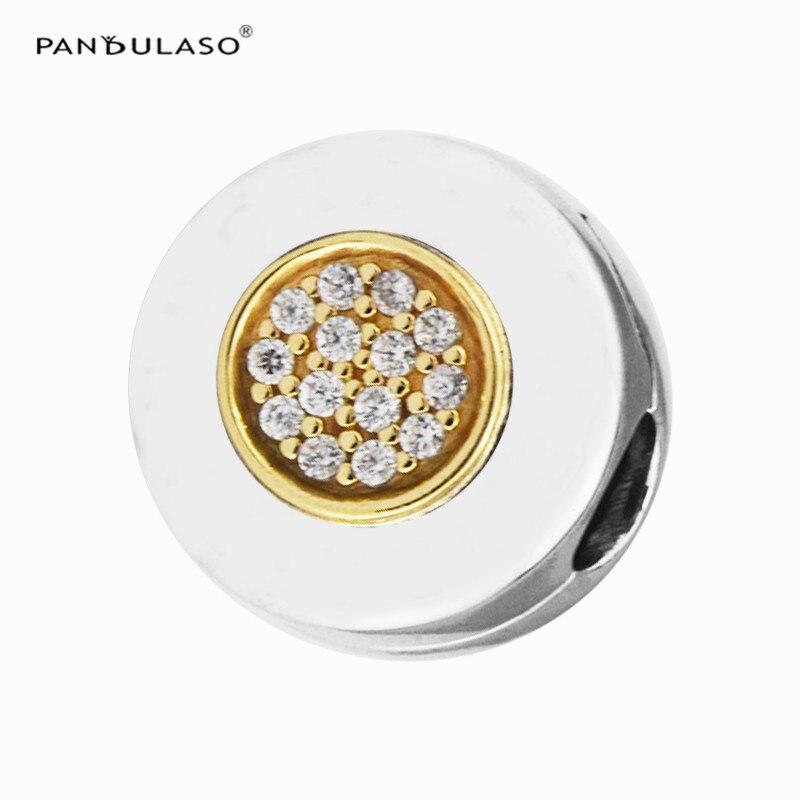 CKK s'adapte à Pandora bracelet à breloques 925 en argent Sterling Signature Clip perles breloque pour la fabrication de bijoux Berloque