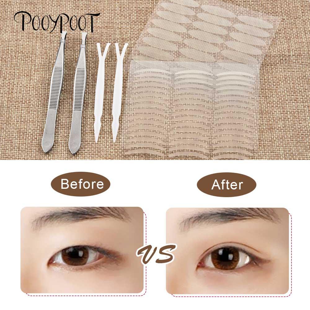 Pooypoot 960Pcs Double Eyelid Tape Sticker Big Eyes Eyelid Stripe Paste Instant Eye Lift Self-adhesive Eyes Patches Makeup Tool