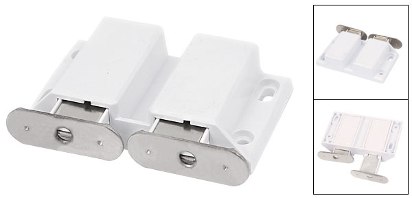 Charmant Furniture Cabinet Door Push Open Double Magnetic Catch Latch White 2pcs