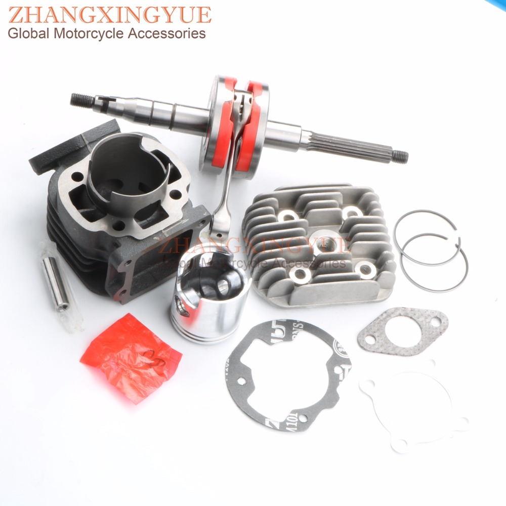 70cc Big Bore Cylinder Bakelite Crankshaft for MBK Booster 50 Booster Road 50cc 47mm 10mm