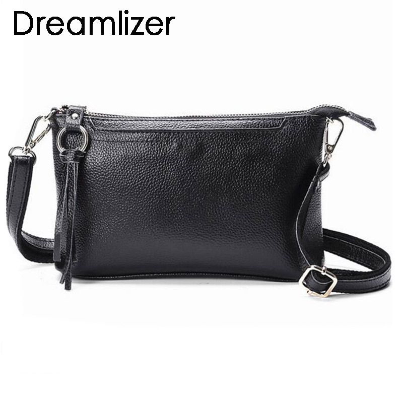 Fashion 2018 Genuine Leather Mini Women Handbags Chain Clutch Bag Wallet Cowhide Party Daily Messenger Bags Female Bag for Phone