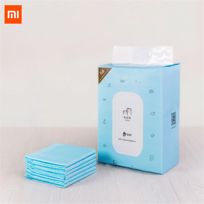 Xiaomi Mijia Pet Dog Training Urine Pad Pet Diapers Super Absorbent Diaper S/M Size Choice deodorant antibacterial Pet Dog Nappy dual pvc mesh pet dog cat toilet bed pan blue size s
