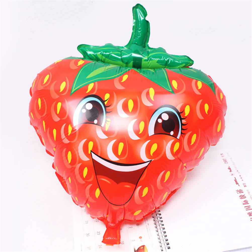Large Strawberry Balloon Aluminum Foil Balloons Holiday Party Celebration Decorate Toys Balloons Baby Shower Supplies