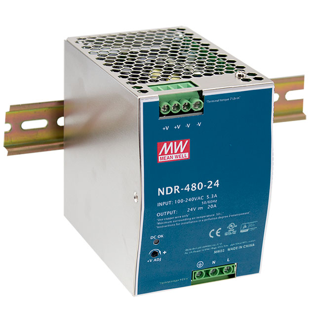 [PowerNex] MEAN WELL original NDR 480 48 48v 10A meanwell NDR 480 48V 480W Single Output Industrial DIN RAIL Power Supply