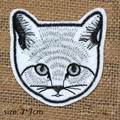 5 pcs/set cat head Embroidered patches iron on garment Appliques accessory