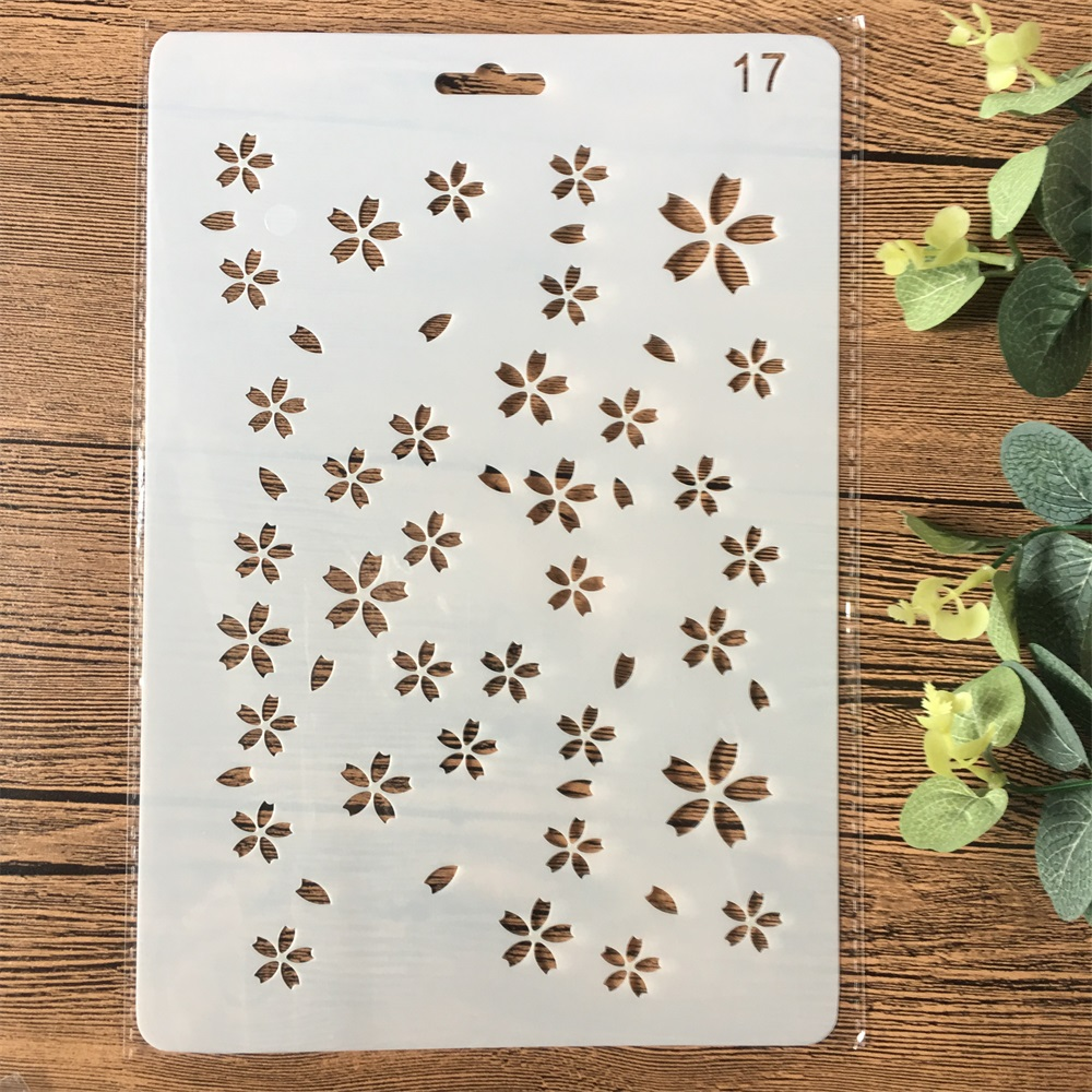 26cm Plum Flowers DIY Craft Layering Stencils Painting Scrapbooking Stamping Embossing Album Paper Card Template