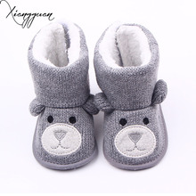 Warm Baby Winter Boots Knitted Wool First Walkers Babies Cute Animal Design Baby Girl Boy Boots Shoes 0-15 Months