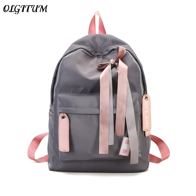 0a7e6c3d1a Hot sale Canvas fashion Backpack design for girls female backpack with Bow  leisure travel school simple personality luggage