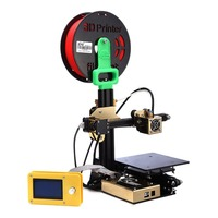 Upgraded High Precision Arm Beam Aluminum Alloy 3D Printer Single Extruder DIY Secure Digital Memory Card Gift