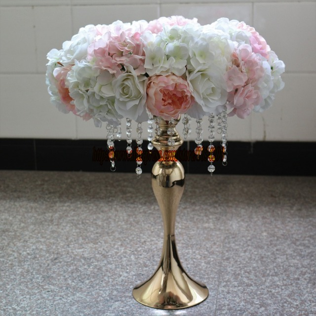 Artificial rose Hydrangea garland Wedding decoration table ...