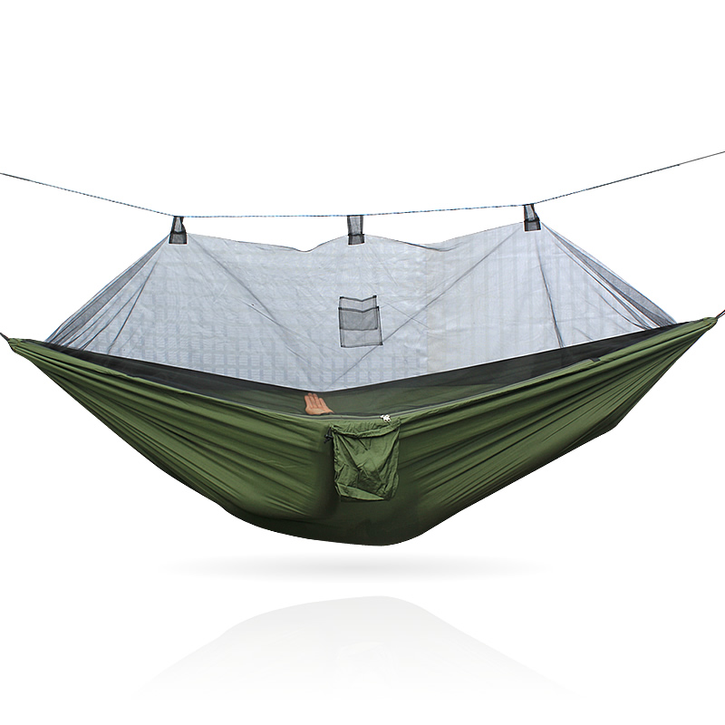 Army Hammock Swinging Chair Indoor Black Mosquito Net