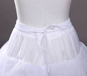 Image 5 - Hoopless 8 Layers Hard Tulle Wedding Petticoats Luxury Princess Quinceanera Dresses Underskirt Long Crinoline Tulle S40