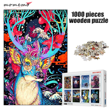 MOMEMO The Elk Wooden Puzzle 1000 Pieces Adults Puzzle Animal Jigsaw Puzzle 1000 Pieces Assembling Puzzles Toys for Children puzzle therapist one a day sudoku for the utterly obsessed large print puzzles for adults