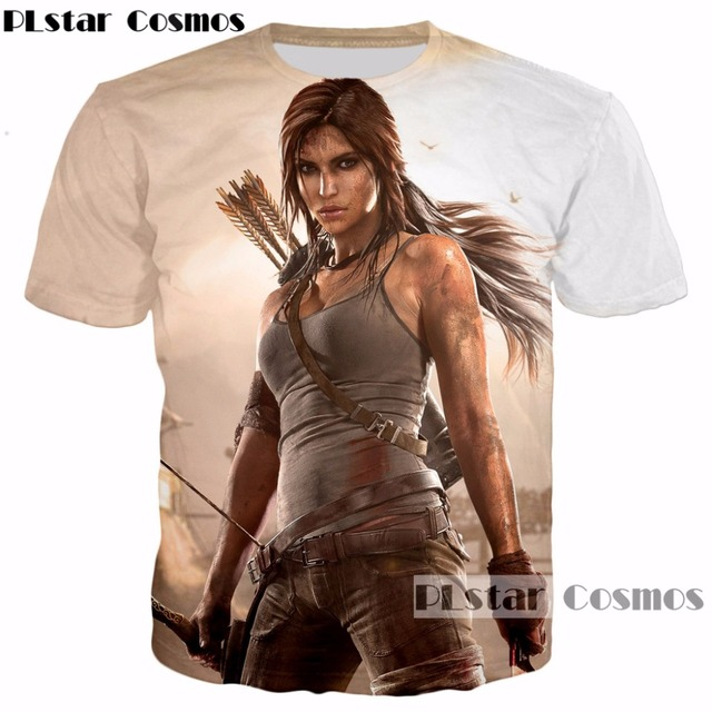 ab2a35a3 US $9.35 22% OFF|PLstar Cosmos 2017 summer hot sale New Fashion Men/Women  3D t shirt New design Game Tomb Raider print O Neck t shirt casual tops-in  ...
