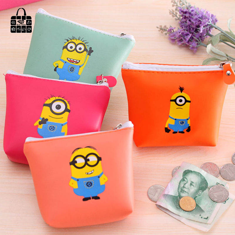 RoseDiary 4 color cartoon PU leather zipper Coin Purse Kids Kawaii Bag Coin Pouch Children Purse Holder Women Coin Wallet