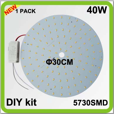 2 year warranty 1 PACK DIY kits 40W LED plate ceiling light disc led techo PCB led circular tube dia30cm 4200lm surface mounted