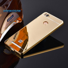 VOONGOSN For Xiaomi Redmi 3 Pro 3s Mirror Back Cover Case Aluminum Metal Frame Set Hot