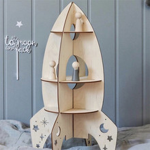 New Wooden Toys for Boys Gifts 3D Assembled Rocket Model INS Nordic Childrens Room Decorations Shelf Home Accessories Juguetes
