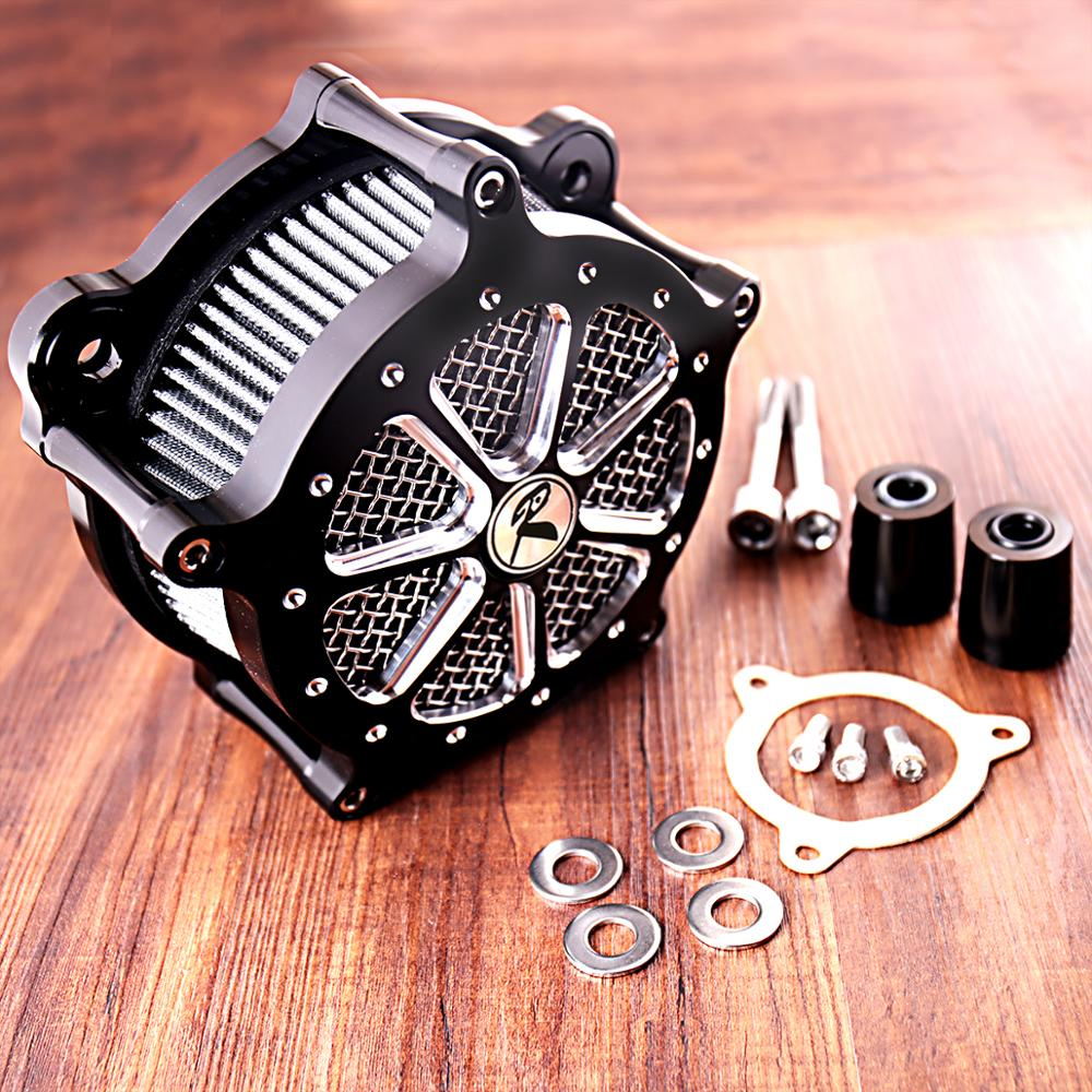 High Flow Filter Shallow Cut Air Cleaner Kit Fit For Harley Touring Street Glide Road King
