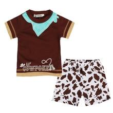 Комплект одежды для маленьких мальчиков, Спортивная футболка с коротким рукавом + шорты с леопардовым принтом, 2 предмета, одежда для мальчи...