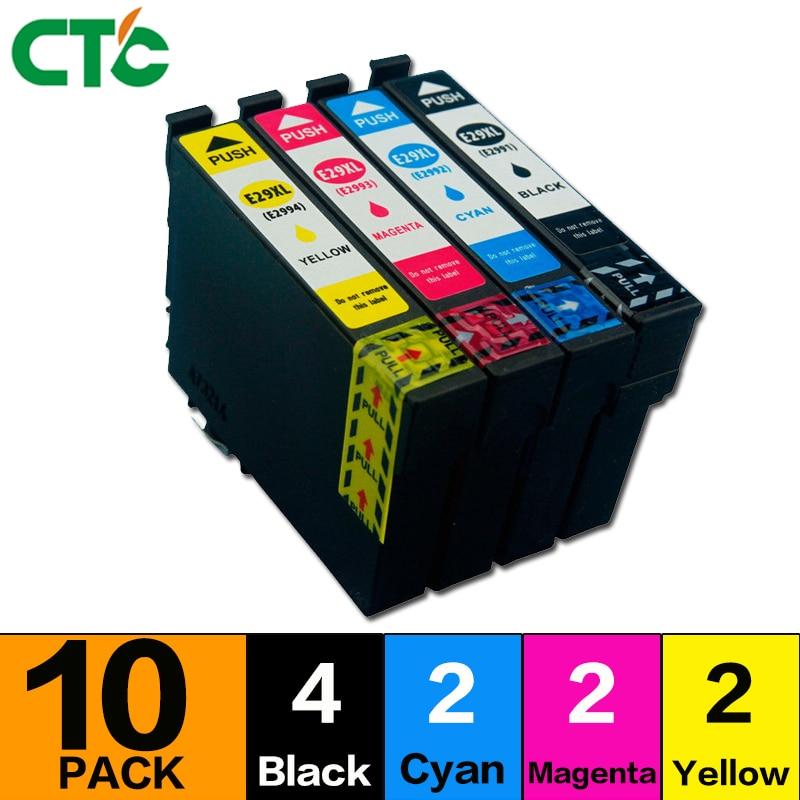 10 Pacco T2996 29XL Cartuccia di Inchiostro Compatibile per XP 235 335 332 432 435 442 332 342 345 245 247 stampante