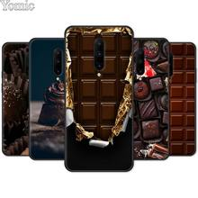 Silicone Cover Shell for Oneplus 7 7 Pro 6 6T 5T Black Case for Oneplus 7 7Pro Soft Phone Case chocolate Willy Wonka Bar