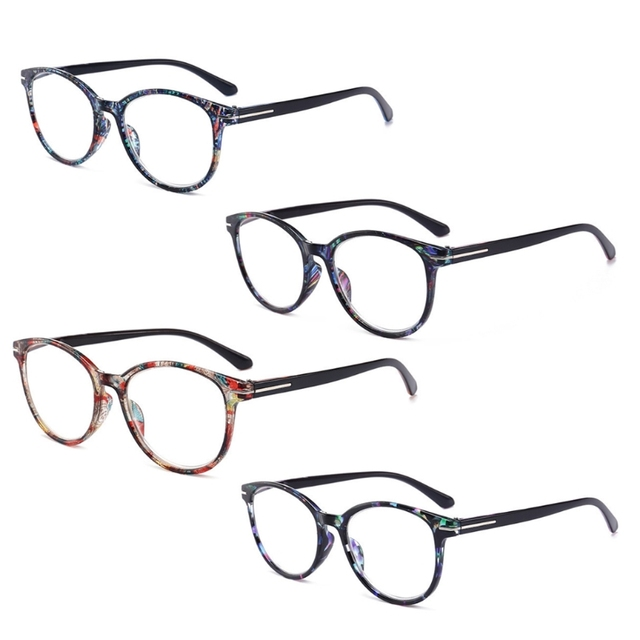 Fashion Unbreakable Reading Glasses Women Men Resin Glasses Transparent Spectacles Vintage Round Reading-glasses W715